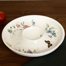 Lenox Butterfly Meadow Chip and Dip Serving Dish