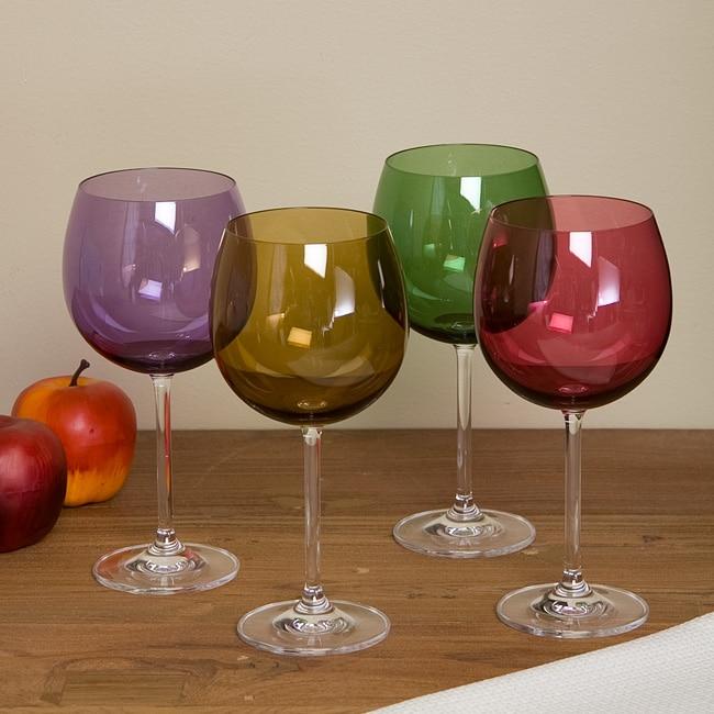 Lenox tuscany harvest balloon glasses set of 4 12645356 shopping great - Lenox colored wine glasses ...