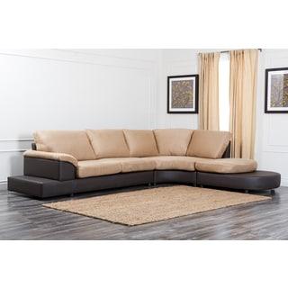 Abbyson Living Cabo Mocha Microsuede Sectional Sofa Set
