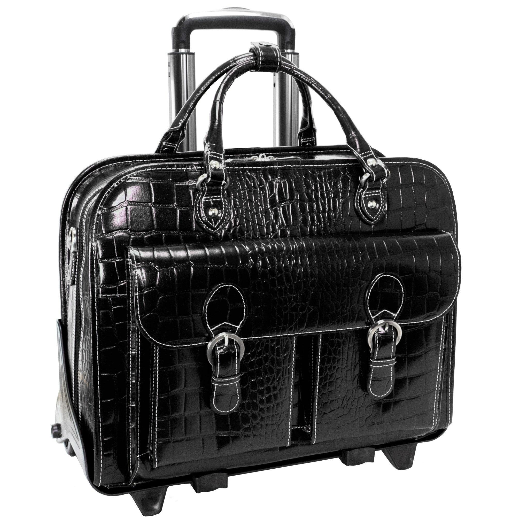 Siamod Siamod 'San Martino' Women's Leather Detachable Wheeled Laptop Case