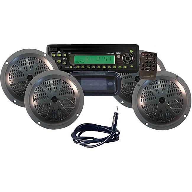 Pyle KTMR14SP Waterproof Marine 4-speaker CD/MP3 Player Stereo System