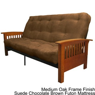 Brendan Mission-style Queen-size Inner Spring Futon Mattress Set Sleeper Bed