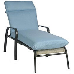 Sky Blue Outdoor Chaise Lounge Cushion