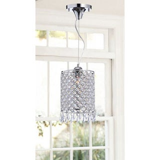 Chrome/ Crystal 1-light Mini Pendant Round Chandelier
