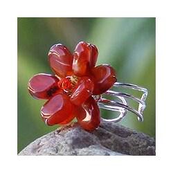 Handmade Carnelian 'Paradise' Cocktail Ring (Thailand)