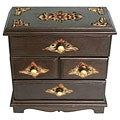 Hand-etched Teak Wood Jewelry Cabinet (Thailand)