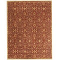 Alliyah Handmade Burgundy New Zealand Blend Wool Rug (8' x 10')