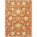 Alliyah Handmade Rusty Orange New Zealand Blend Wool Rug (&#39;8x10&#39;)