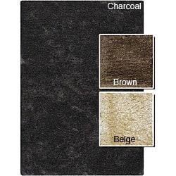 "Handwoven Mandara Wool-Blend Shag Area Rug (7'9"" x 10'6"")"