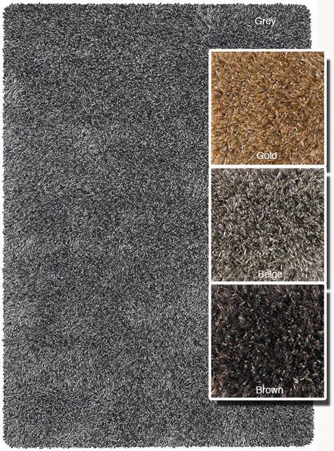 Hand-woven Mandara Wool Blend Shag Rug (7'9 x 10'6)