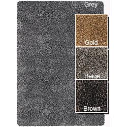 Hand-woven Mandara Wool Blend Shag Rug (9' x 13')