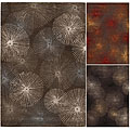 Hand-Tufted Starburst Mandara New Zealand Wool Rug (7'9 x 10'6)