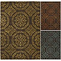 Hand-Tufted Transitional Mandara New Zealand Wool Rug (7'9 x 10'6)