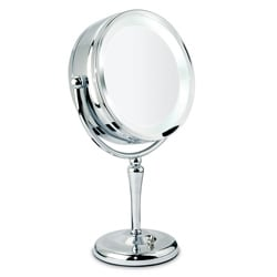 Danielle 1x-10x Chrome Revolving Lighted Mirror