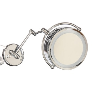 Danielle Revolving Lighted 1x-10x Wall Mount Mirror