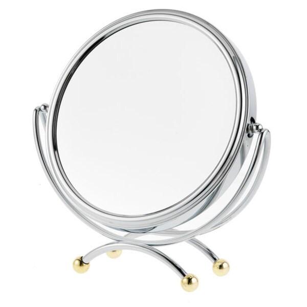 Danielle 1x-10x Two-tone Low Profile Vanity Mirror