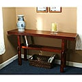 Simple Living Cherry Walnut Finish Sakura Sofa Table