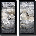 Noah Li-Leger 'Tahitian Pearls I and II' Framed 2-piece Canvas Art