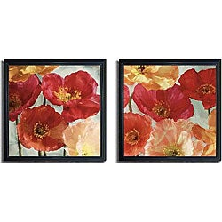 Janel Pahl 'Incandescence I and II' Framed Canvas Art Set