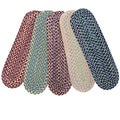 Set of 4 Reversible Smithfield Braided Stair Tread Rugs (9 in. x