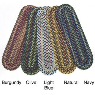 Set of 4 Reversible Jefferson Braided Stair Tread Rugs (9 in. x 29 in.)