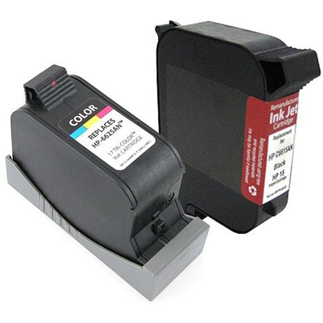 Insten HP 15 / 17 Black and Color Ink Cartridge Set