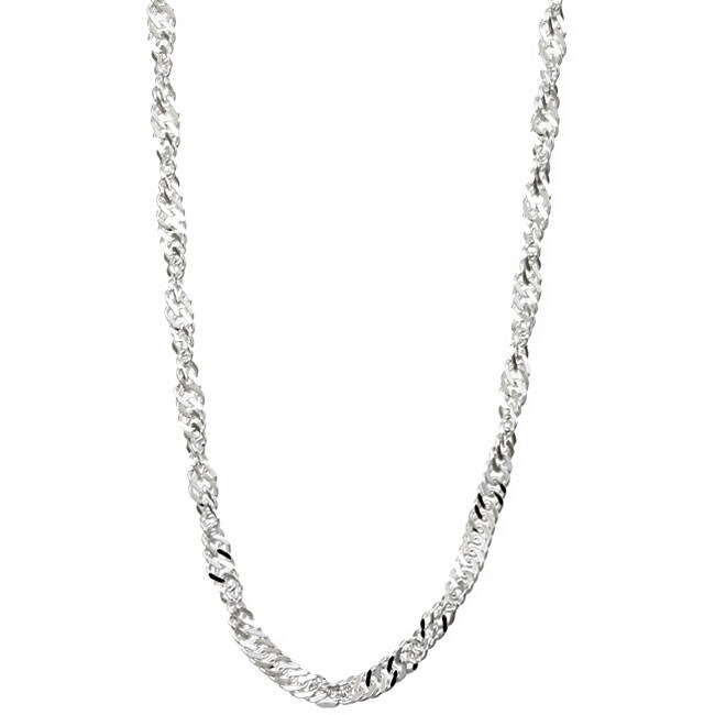 Sterling Essentials Sterling Silver 20-inch Singapore Chain (2 mm)
