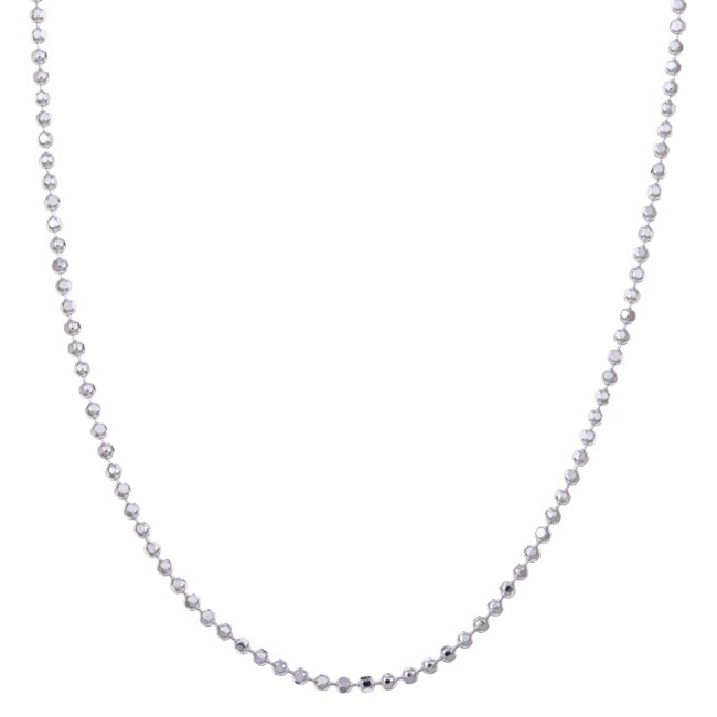 Sterling Essentials Sterling Silver 18-inch Diamond-Cut Bead Chain (1.5 mm)