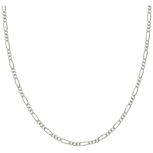Sterling Essentials Sterling Silver 20-inch Figaro Chain (1.5mm)