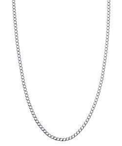 Sterling Essentials Sterling Silver 22-inch Curb Chain (1.7mm)