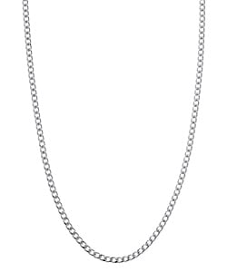 Sterling Essentials Sterling Silver 24-inch Curb Chain (1.7 mm)
