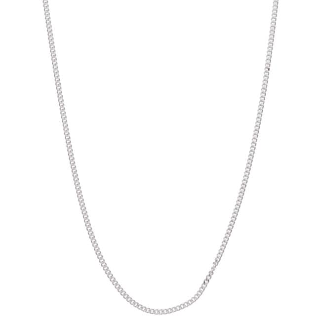 Sterling Essentials Sterling Silver 18-inch Curb Chain (1mm)