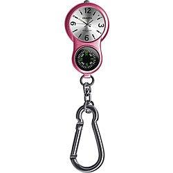 Dakota Women's 'E-Clip' Pink Carabiner Watch
