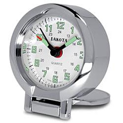 Dakota Men's Etched Hunter Travel Alarm Clock