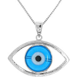 Sterling Silver 'Evil Eye' Necklace