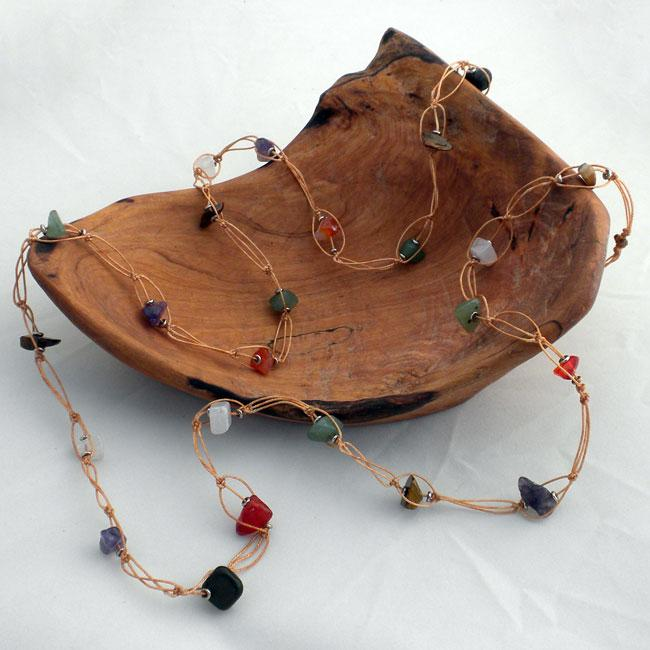 Beauty from a Tire Agate Necklace (Kenya)