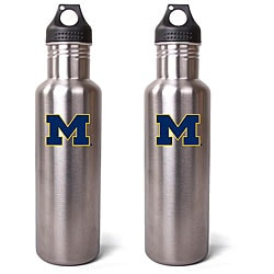 Michigan Wolverines 27-oz Stainless Steel Water Bottles (Pack of 2)