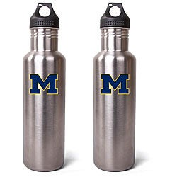 Michigan Wolverines 27-oz Stainless Steel Water Bottles (Pack of 2)