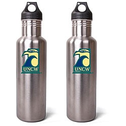 North Carolina Wilmington Seahawks 27-oz Stainless Steel Water Bottles (Pack of 2)