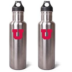 Utah Utes 27-oz Stainless Steel Water Bottles (Pack of 2)