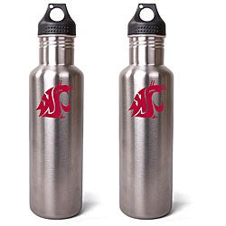 Washington State Cougars 27-oz Stainless Steel Water Bottles (Pack of 2)