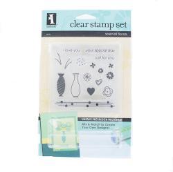 Inkadinkado Special Florals Peg Block Clear Stamp Set