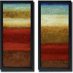 Angelina Emet 'Jaipur & Agra' 2-piece Framed Canvas
