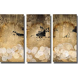 Li-Leger 'Pearl Essence I, II, & III' Unframed Canvas 3-piece Art Set