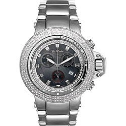 Joe Rodeo Men's Razor Stainless Steel Case Diamond Watch