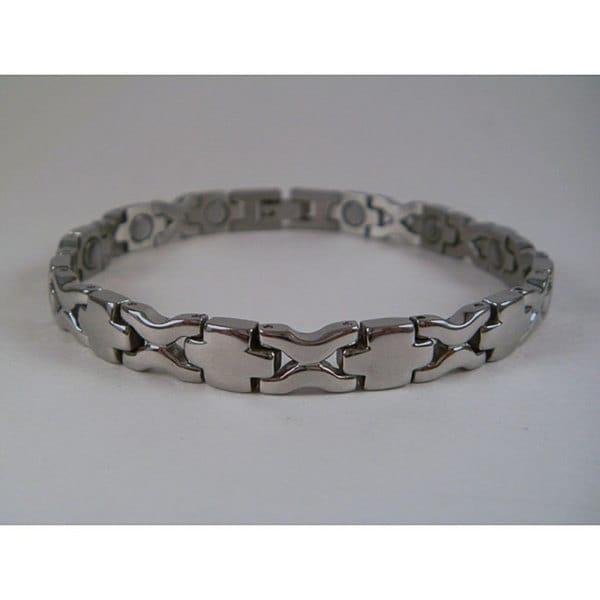 Stainless Steel Unisex Crosswave Magnetic Bracelet