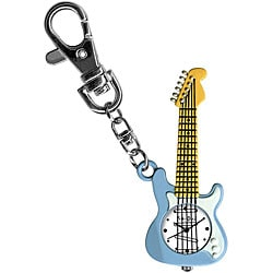 Dakota Yoshi Oshi Children's Blue Guitar Charm Clock