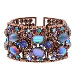Sweet Romance Burnished Copper Jelly Bean Blues Bracelet