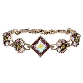 Sweet Romance 1950s Retro Glamour Crystal Bracelet