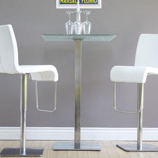 Krib Round Glass Adjustable Height Pub Table 11532026